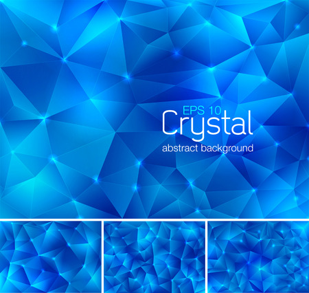 crystal background: Polygonal crystal abstract background. Each background separately on different layers.  Available in 4 variants and created in RGB mode
