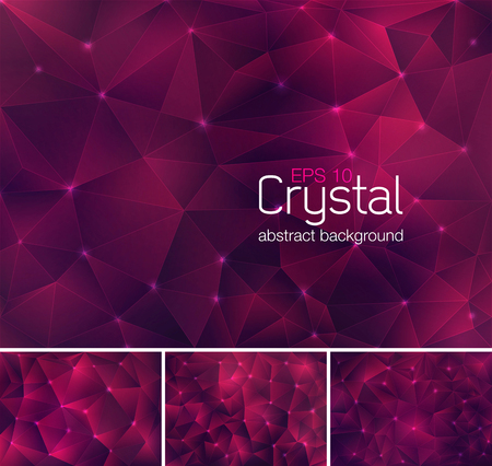 unusual valentine: Polygonal crystal abstract background. Each background separately on different layers.  Available in 4 variants and created in RGB mode