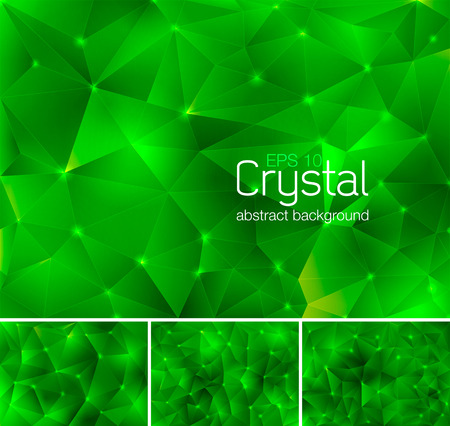 verdant: Polygonal crystal abstract background. Each background separately on different layers.  Available in 4 variants and created in RGB mode
