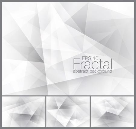 Fractal abstraite série d'arrière-plan Vecteurs
