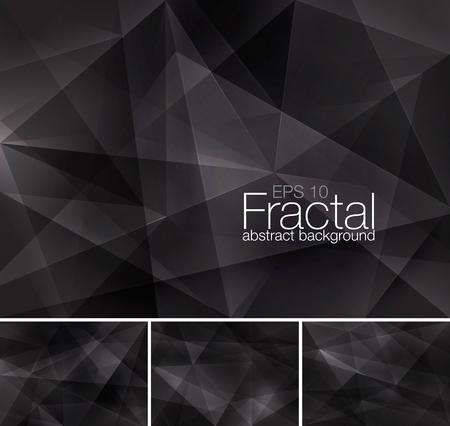 フラクタルの抽象的な背景シリーズ  イラスト・ベクター素材