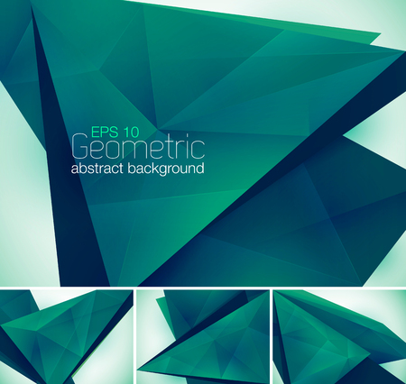 greenness: Geometric abstract background. Low poly vector background Illustration