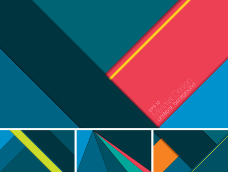 Vector Abstract background with material design style. Suitable for website and mobile application background Illustration