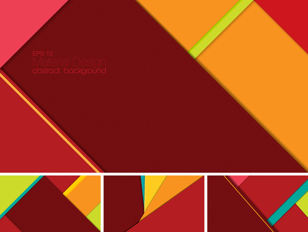 mobile application: Vector Abstract background with material design style. Suitable for website and mobile application background Illustration
