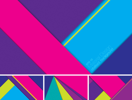 sloping: Vector Abstract background with material design style. Suitable for website and mobile application background Illustration