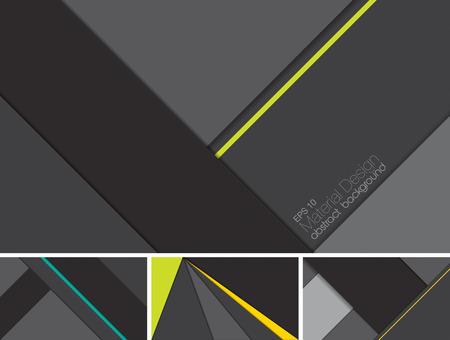 amarillo y negro: vector de fondo abstracto con el estilo de diseño de materiales. Adecuado para el sitio web y el fondo de aplicaciones móviles Vectores