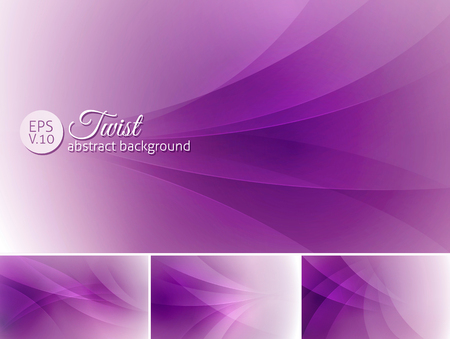background purple: Twist  abstract background. A set of vector background suitable for design element Illustration