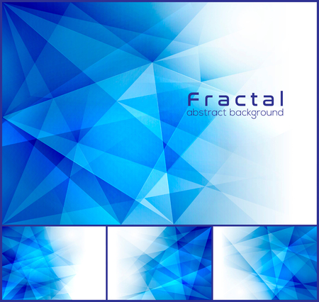 geometric shapes: Fractal abstract background. Low poly background series, suitable for design element and web background