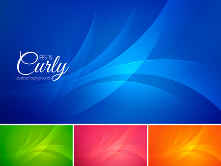 Curly  abstract background vector series. Suitable for design element and background Illustration