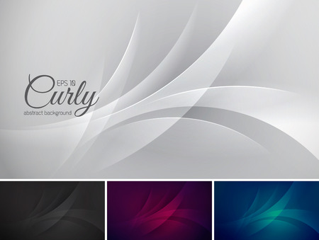 yule tide: Curly  abstract background series. Suitable for design element and background Illustration