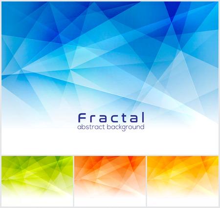 Frattale sfondo astratto. vector serie low poly, adatto per elemento di design e di sfondo web