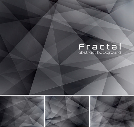 rigid: Fractal abstract background. Low poly vector background series, suitable for design element and web background
