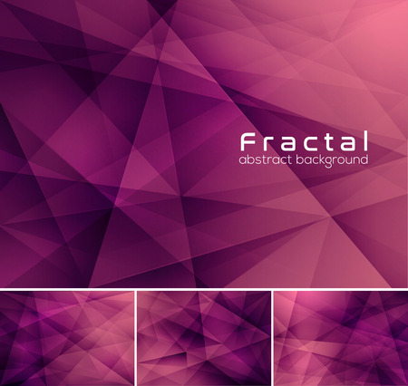 background purple: Fractal abstract background. Low poly vector background series, suitable for design element and web background
