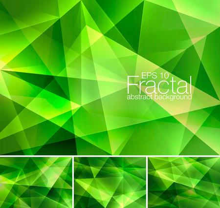 프랙탈 추상적 인 배경입니다. 낮은 폴리 벡터 배경 시리즈, 디자인 요소 및 웹 배경 적합