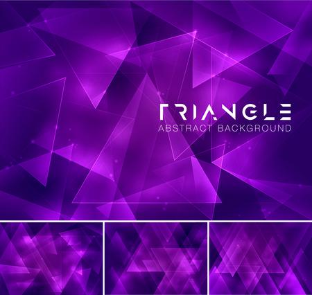 fondos violeta: resumen de antecedentes triangular. Poli baja y geométrica serie de vectores de fondo, adecuado para elemento de diseño y el fondo del Web Vectores