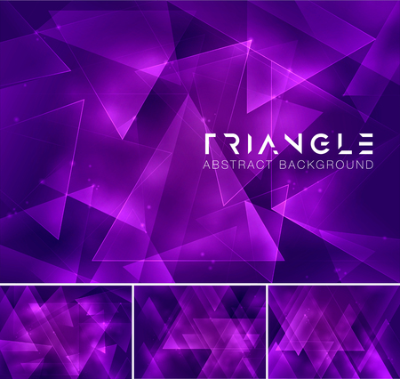background purple: Triangular abstract background. Low poly and geometric vector background series, suitable for design element and web background