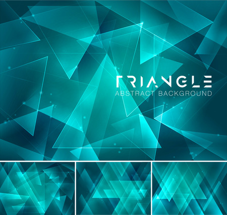 greenness: Triangular abstract background. Low poly and geometric vector background series, suitable for design element and web background