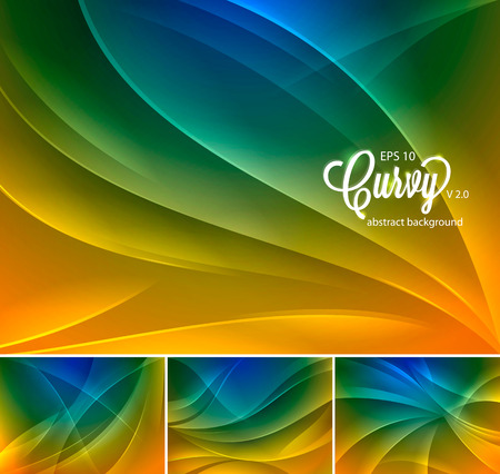 duo: Curvy abstract . Suitable for your design element