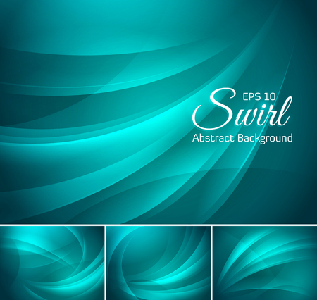 greenish blue: Swirl abstract background series. Suitable for your design element and web background