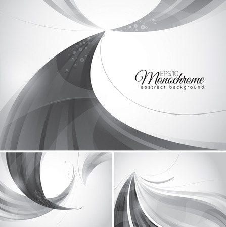 Monochrome abstract background. Black and white vector abstract background, suitable for your design element.