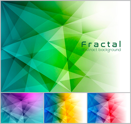 duo tone: Fractal abstract background. Low poly vector background series, suitable for design element and web background