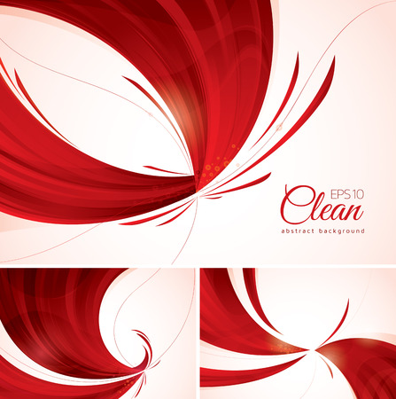 Red abstract background. A set of red vector abstract background, suitable for your design element and web background Illustration