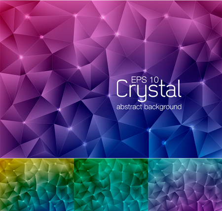 an amulet: Crystal abstract background, suitable for your design element or web background Illustration