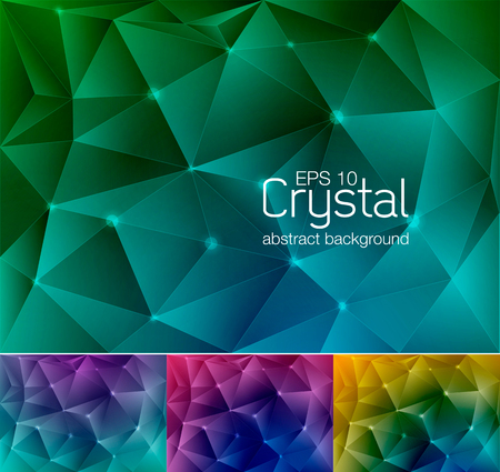duo tone: Crystal abstract background, suitable for your design element or web background Illustration