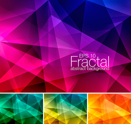forme: Fractal fond abstrait. Low poly série vecteur de fond, approprié pour élément de design et web background Illustration