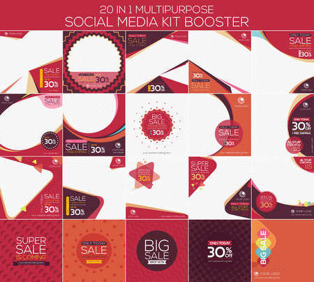 Multipurpose social media kit booster. Available in 20 alternate design, suitable for your promotion