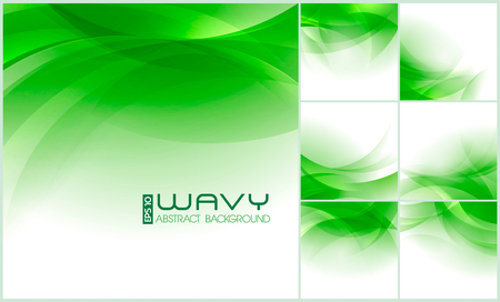 Modern wavy abstract background collection. Suitable for your website background or design element