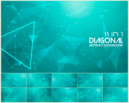 Polygonal line and low poly abstract background. Suitable for web background and design element 向量圖像