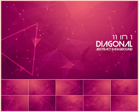 Polygonal line and low poly abstract background. Suitable for web background and design element Illusztráció