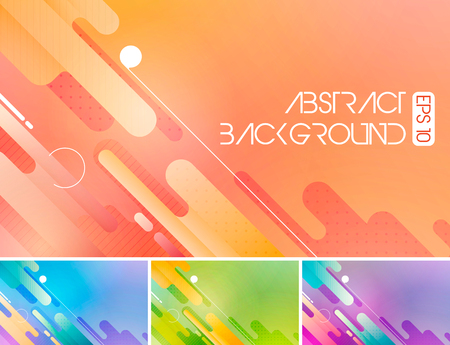 Modern rounded shapes vector abstract background. Suitable for your design element and background Illustration