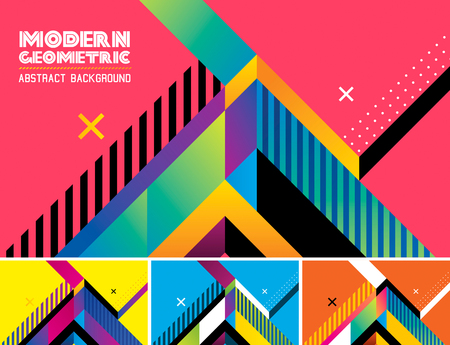 Modern geometric vector abstract background. Suitable for your design element and web background Иллюстрация