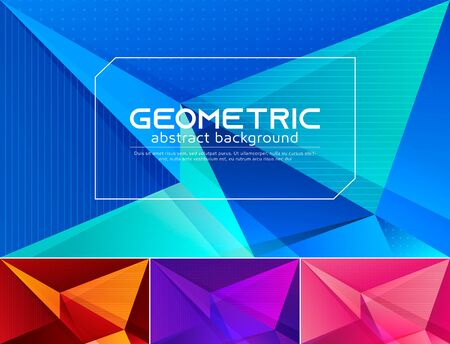 Colorful vector geometric abstract background. Applicable for web background, design element ,wall poster, landing page, wall paper, and social media element 矢量图片