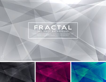 Modern fractal abstract background. Low poly and fractal vector background series, applicable for web background, design element ,wall poster, landing page, wall paper, and social media element Stock Illustratie