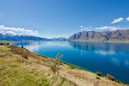 Lake Hawea, South Island, New Zeland. An outdoor adventurer paradise
