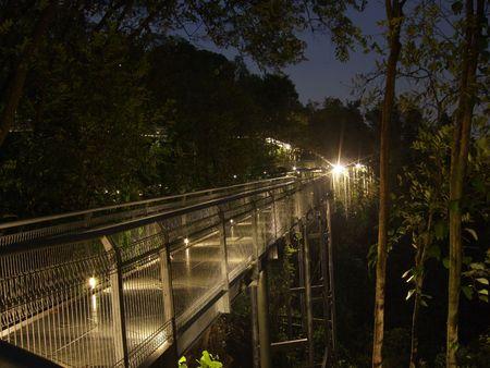 alexandra: Walking Trail around Alexandra area by night Stock Photo