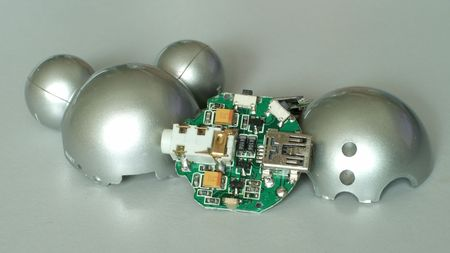 dismantled: Dismantled MP3 player, with circuit board.