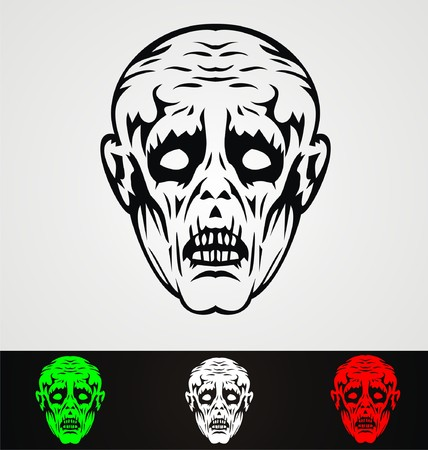 mistic: Zombie Face Tribal Illustration