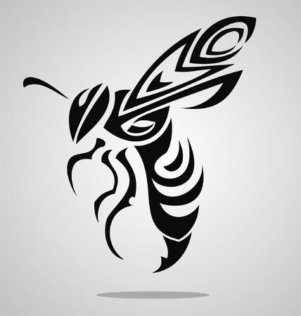 drawing an animal: Bee Tattoo Design