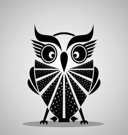 wild nature: Black Owl Bird