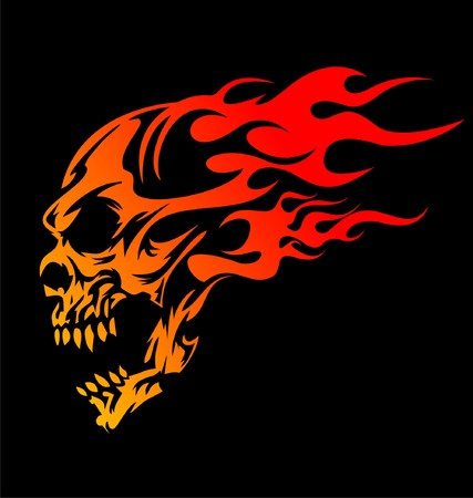 morte: Crânios ardentes Ilustração