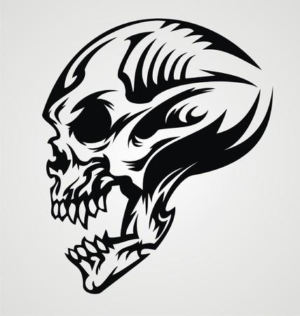 Black And White Skull Tattoo Designs Skull Tattoo Design Vector