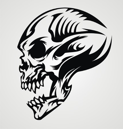 mistic: Skull Tattoo Design