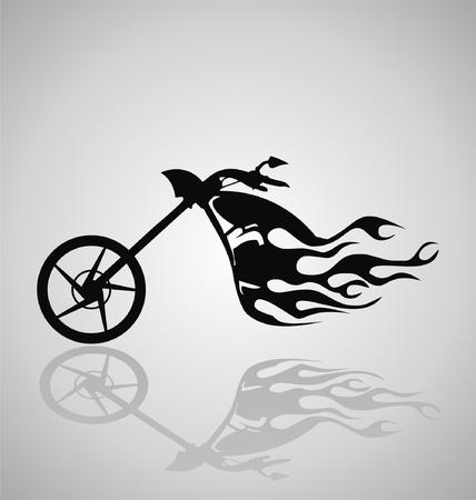 Tribal Motorcycle Vector