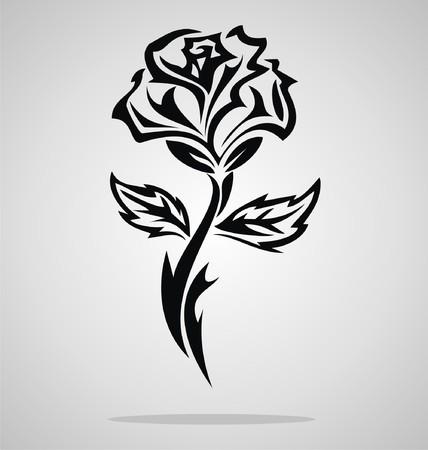 rosas negras: Rose tribal