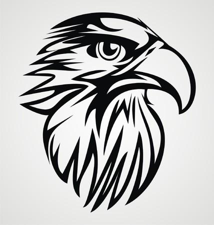 cabe�a de animal: Cabe�a de Eagle tribal