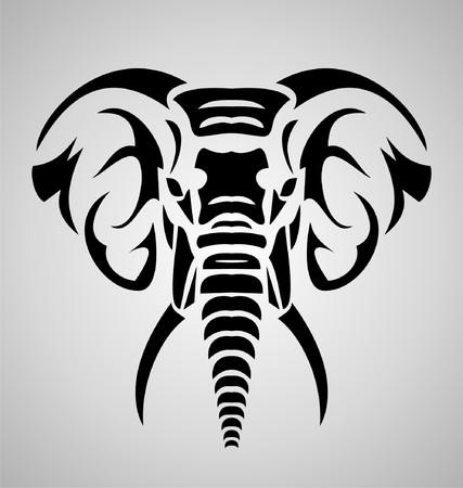 tribales: Elefante tribal